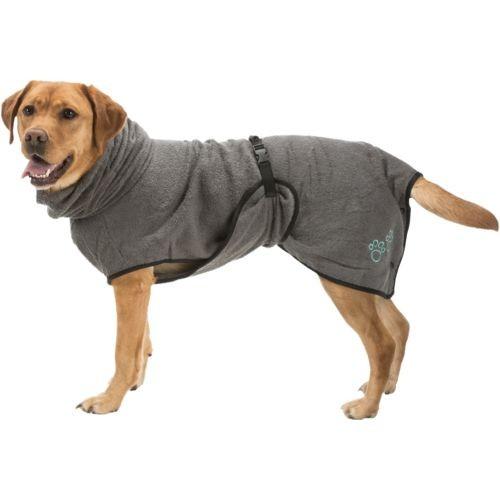 Bademantel für Hunde grau L 60cm