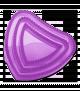 Herzchenstriegel Kinderstriegel lila