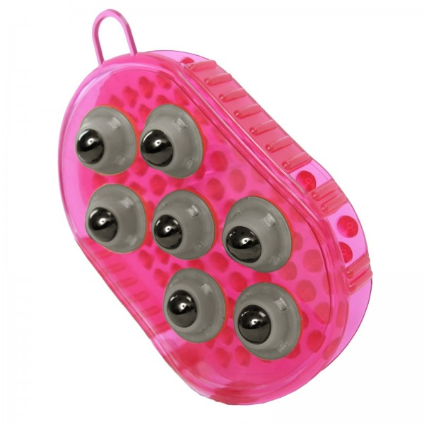 Massage- und Putzhandschuh pink