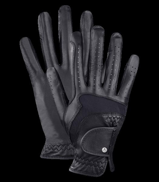 Reithandschuh PREMIUM Leder schwarz Gr. 7,0