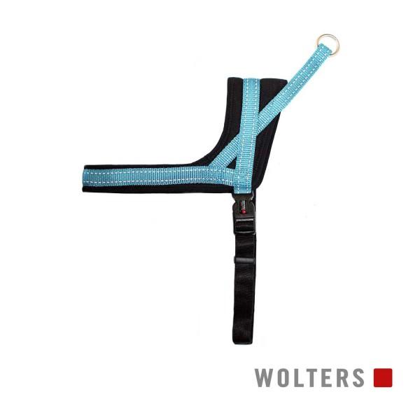 WOLTERS Geschirr Soft&Safe reflek 45-55cm aqua/sch