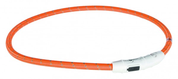 Flash Leuchtring USB, L–XL: 65 cm/ø 7 mm, orange