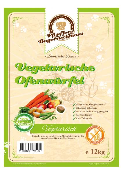 Pfeuffers vegetarische Ofenwürfel 12kg