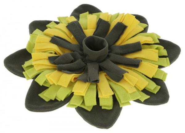 Schnüffelteppich Sunflower gelb/grün, Ø 40cm