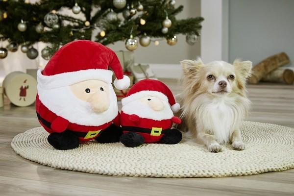 WOLTERS Plüschball Weihnachtsmann 15cm