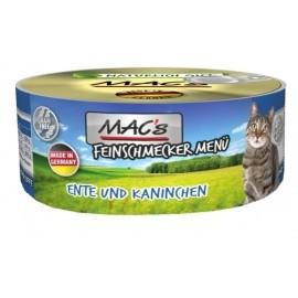 MAC´s Cat Feinschmecker Ente, Kaninchen & Ei 100g