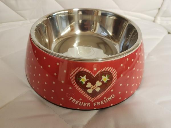 Melamin-Napf Adelheid Treuer Freund rot 700 ml