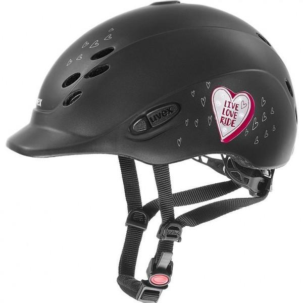 UVEX onyxx glamour black-pink Gr. xxxs-xs 49-54 cm