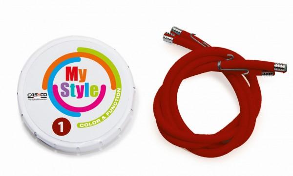 MyStyle Casco Streifen bordeaux Gr. 1