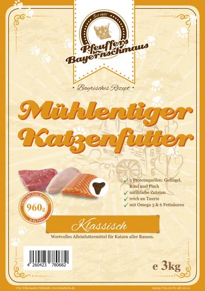 Pfeuffers Mühlentiger Katzenfutter (Mix) 3kg