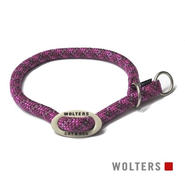 WOLTERS Schlupfhalsband reflekt.fuchsia/pflau 30cm
