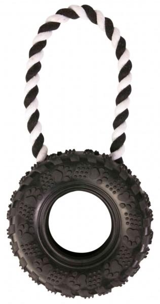 TRIXIE Hundespielzeug Reifen am Tau