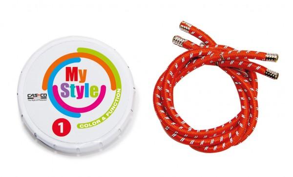MyStyle Casco Streifen rot reflektor Gr. 1