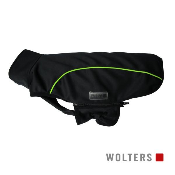 WOLTERS Softshell-Jacke Basic 60cm schwarz/limone