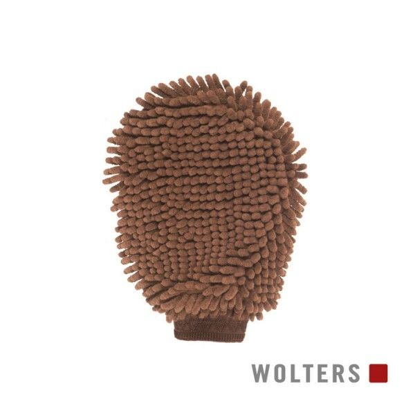 WOLTERS Dirty Dog & Horse Grooming Mitt braun