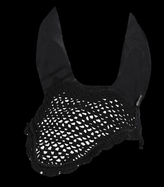 Fliegenohren mit elastischen Ohren, schwarz, Pony