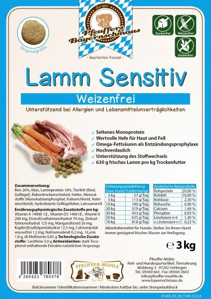 Pfeuffers Hundefutter Lamm Sensitive 3kg