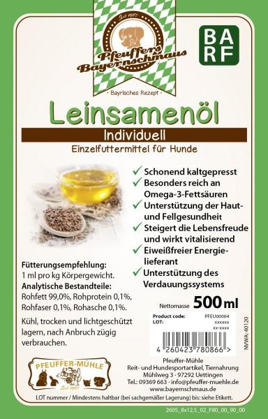 Pfeuffers Bayernschmaus Leinsamenöl f.Hunde 500ml