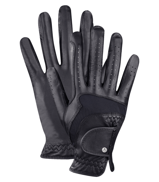 Reithandschuh PREMIUM Leder schwarz Gr. 7,5