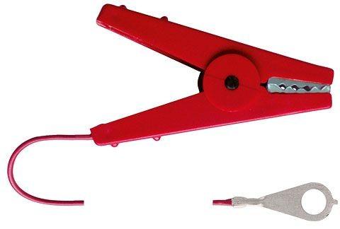 Zaunanschlußkabel rot Länge 100 cm mit M8-Öse