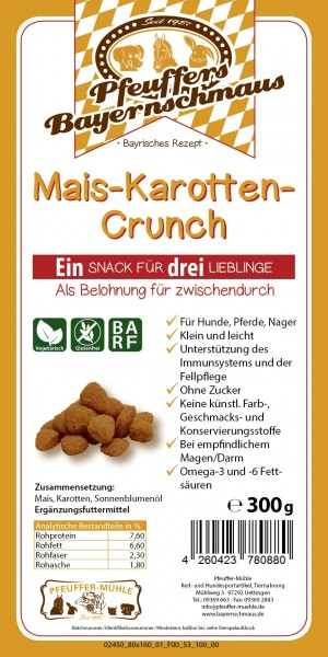 Pfeuffers Mais-Karotten-Crunch 300g