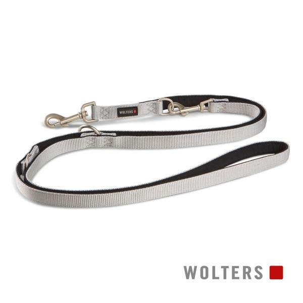 WOLTERS Leine Prof.Comf. 200cmx10mm silber/schwarz