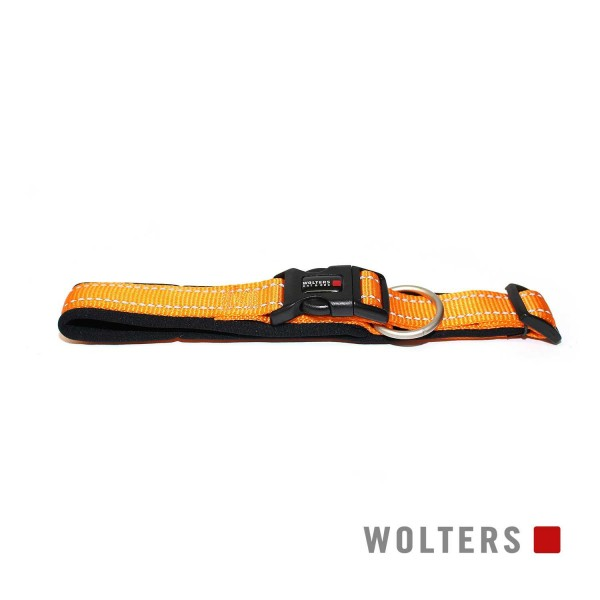 WOLTERS Halsband Soft&Safe reflek 45-50cm oran/sch