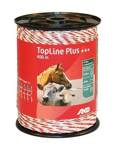 TopLine+ Weidezaunband weiß/rot 400 m, 9mm